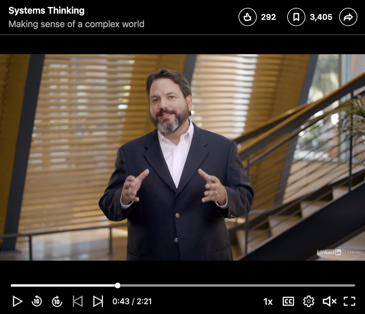 LinkedIn Learning Introduction to  Systems Thinking (online)
