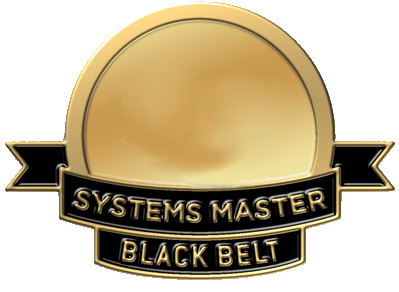 Certification as Systems Master Black Belt