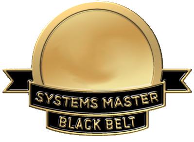 Systems master certification black belt